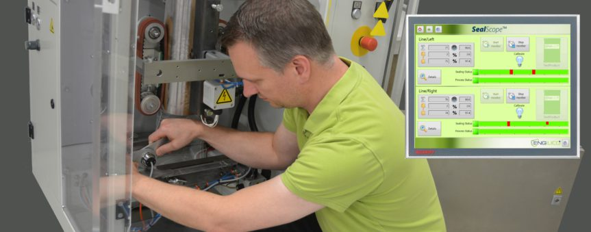 Application engineer installing sensors