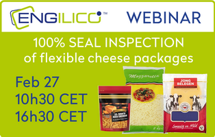 Webinar: 100% SEAL INSPECTION of flexible cheese packages