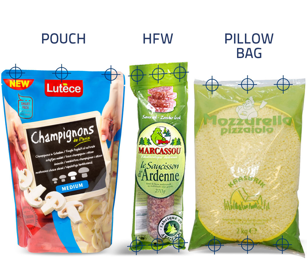 pouches horizontal flow wrap pillow bag seal inspection